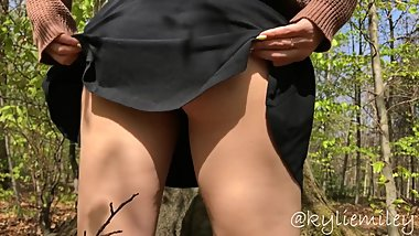 We were almost caught by forester - sexy teen public striptease Kyliemiley