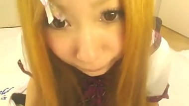 Japanese asian Girl webcam orgasm squirt creampie