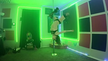 Rikki Jane Does a Pole Dance