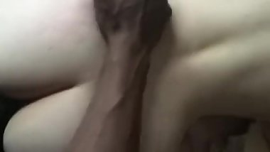 Thick white girl takes big black dick