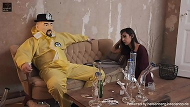 HNBG Bong Girl Lia Leone - smoke and fuck - Strip, BJ cum  by Headshop Man