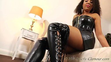 Striptease on Leather Outfit