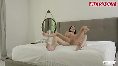LETSDOEIT -Horny Wife Megan Rain Cheats and Fucks Lover While Husband Works