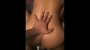 Big booty midget gets pounded from the back