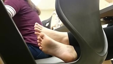 Incredible Teen Feet in Class (Rare Video)