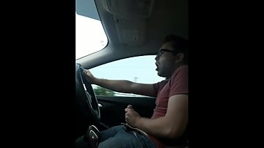 Jerking it while driving to work
