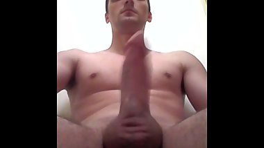 Young stud with thick cock moaning