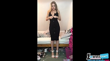 Hot Blonde Teen Striptease