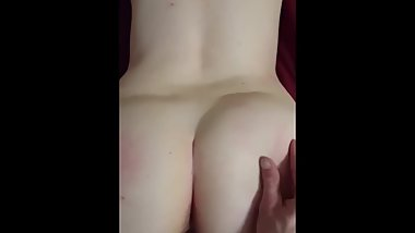 Spanking and Fucking my Girlfriend Doggy