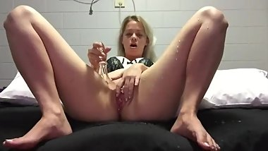 Teen Plays with Herself for the Camera and Squirts