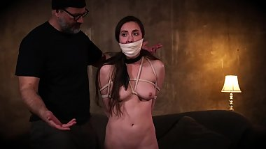 casey cooperates in her tape gagged bondage
