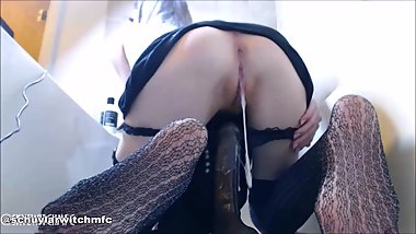 Daddy's Hot Teen Goth Sub BBC Creampie PREVIEW