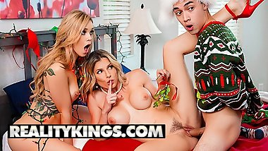 Reality Kings - Blonde stepmom shares younger couple