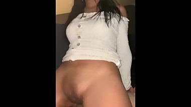 Nyc Teen amateur rides dick so hard she squirts ! REVERSE COWGIRL