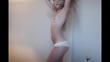 blonde teen strip