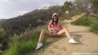 Public sex Hollywood sign - USA - Little Caprice