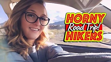 Horny Hikers Public Flashing Deepthroat Cock Suck - Molly Pills - POV GFE
