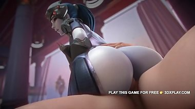 OVERWATCH WIDOWMAKER HARD FUCK BIG DICK ANIMATED 2019