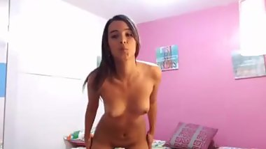 Cousin stripping in front of webcam