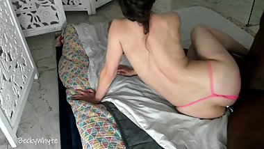 Massive CREAM PIE - Hard Fucking - Cum Pours Out Pussy After Mounting BBC