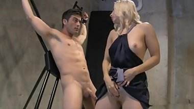 Blonde Femdon Bondage Guy