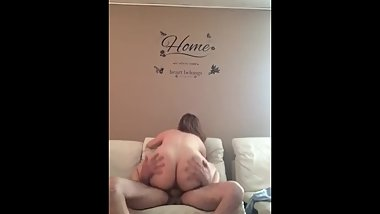White girl with thick ass rides arabs cock