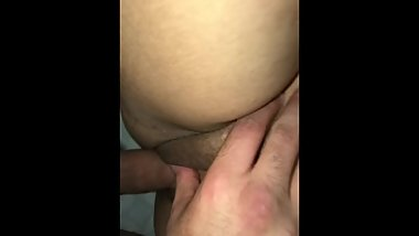Fat pink pussy getting slammed