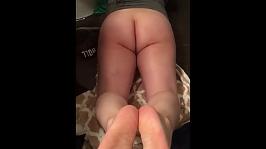 Cumming On Her Sexy Soles Ass View