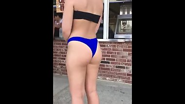 Candid Nice Ass Teen Waiting In The Line