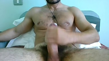 Hot Romanian Str8 Stud Strokes his BIG FAT COCK online