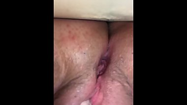 Teen moans while rubbing clit