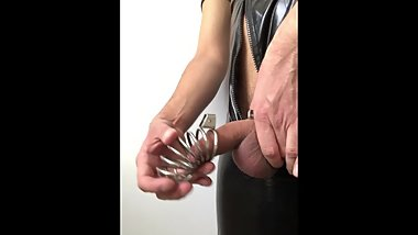 Installing CHASTITY CAGE ** NO ESCAPE **