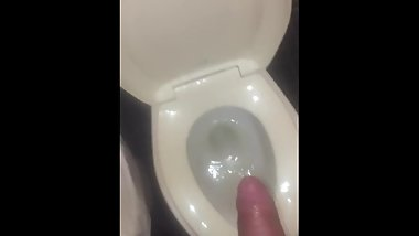 HIGH ON SPEED FLASH NASTY PENIS IN PUBLIC MOTEL TOILET PISSING EVERYWHERE