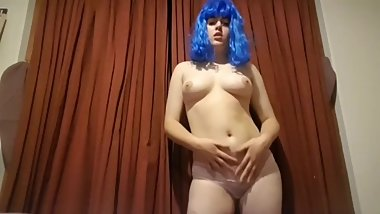 18 year old taking clothes off and drinking wine