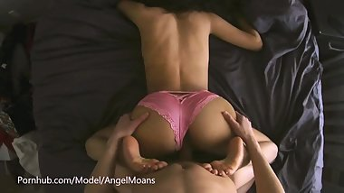 Petite Russian GF Fucked In Pink Panties - POV