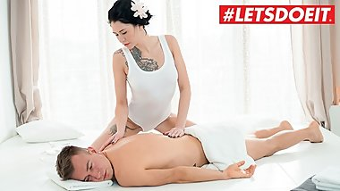 LETSDOEIT - Brunette Massage Girl Gets Fucked Hard By Her Client
