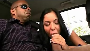 Euro Slut takes huge american mandingo cock. Dicksucking lips. Car BJ