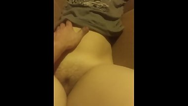 Me rubbing my young wifes tight pussy
