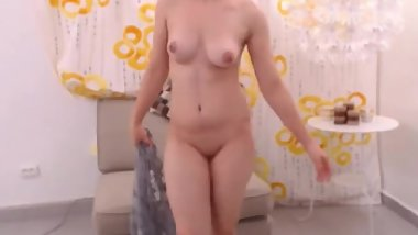 LittleTeenBB Riley strips completely naked, shows off her ass and tits