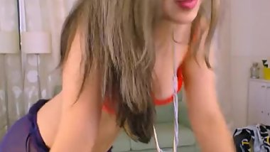 LittleTeenBB Riley performs striptease, dances topless, panties, bra, tits