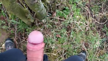 Teen farmboy wanking in the woods