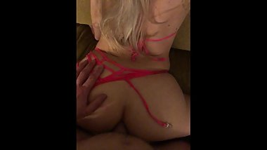 Amateur Blonde with BIG ASS lets you watch her first anal experience POV